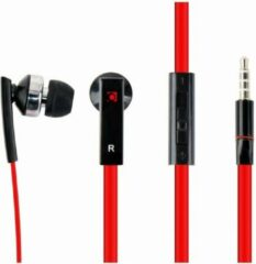 Zwarte Gembird MHS-EP-OPO - In-ear Porto met microfoon, platte kabel
