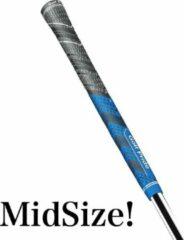 GolfPride New Decade MultiCompound Plus 4 MIDSIZE Grip - Charcoal Blauw
