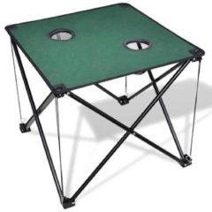 Groene VidaXL Campingtafel inklapbaar (donkergroen)