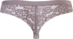 Bruine G. ten Cate Ten Cate dames Secrets Lace string 30102 taupe-XL - XL