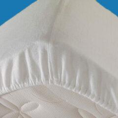 Witte Cinderella - Stretch - Molton - Hoeslaken (tot 25 cm) - 200x210/220 cm - White