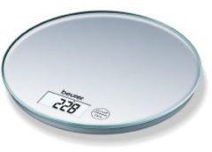 Zilveren Beurer KS28 - Keukenweegschaal - 5kg - incl batterijen - Grijs