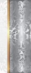 Gouden Fotobehangart Deursticker Muursticker Klassiek | Zilver, Goud | 91x211cm