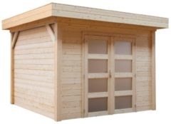 Woodvision Topvision | Blokhut Kolibri 250 x 250 | Geïmpregneerd groen