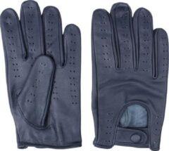 Swift retro racing leren handschoenen blauw | Maat XL