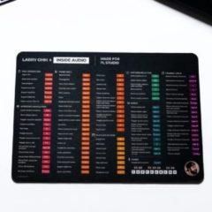 Zwarte InsideAudio Shortcut Muismat - gemaakt voor - FL Studio - XL - Mac