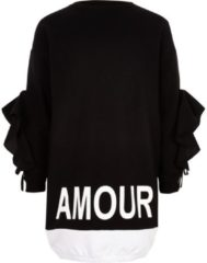 "River Island Schwarzes Sweatshirt-Kleid ""amour"""