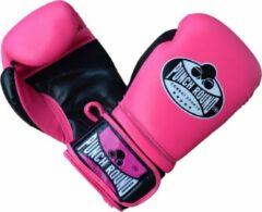 PunchR™ Dames Bokshandschoenen Punch Round Combat Sports Roze 10 OZ Roze Bokshandschoenen