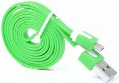 Qatrixx Micro USB Kabel Datacable 1 meter Universeel groen Groen