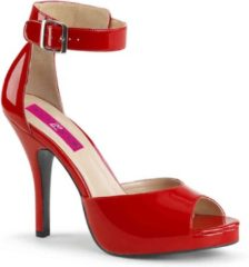 Pleaser Pink Label Pumps -45 Shoes- EVE-02 US 14 Rood