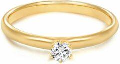 Goudkleurige Tresor Jewellery Tresor 1934 Trouwring Verlovingsringen Solitaire Ring