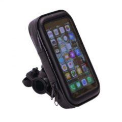 Zwarte RoHS Waterdichte Fiets-Telefoonhouder Maat XL