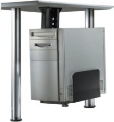 Zwarte Newstar CPU-D200BLACK Desk-mounted CPU holder Zwart CPU-houder