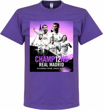 Afbeelding van Retake Real Madrid LA DUODECIMA 12 T-Shirt - Paars - XXL