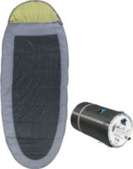 10-T Outdoor Equipment 10T Schlafsack TIA -13° warm weich 2000g XXL Ei-Form Mumienschlafsack 240x100 Grau / Grün