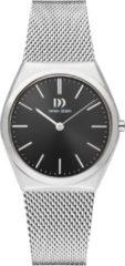 Zilveren Danish Design watches edelstalen dameshorloge Tåsinge Black Silver Small Mesh IV63Q1236