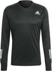 Zwarte Adidas OTR Long Sleeve Running Top - Hardloopshirts (lange mouwen)