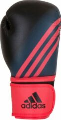 Rode Adidas Speed 100 (Kick)Bokshandschoenen Zwart/Shock Red Women's Edition 10 oz