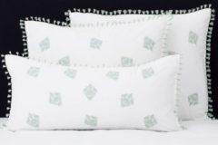 Groene Flamant Home Linen Mix&Match - Set Kussenslopen - 60 x 70 cm - Tassel Jade