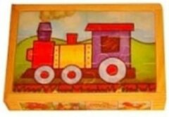 Playwood / Roel Houten puzzel in kistje 4x voertuigen