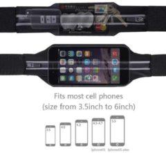 #DoYourFitness - Loopriem - »RunActive« - heuptas / ritszak voor hardlopen ,elastisch, waterdicht - mobiele telefoon tot ca. 5,5 inch - rood