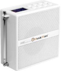 Witte MusicMan Socket Soundstation -Draagbare luidspreker met DAB+, FM-radio, Bluetooth en AUX-ingang.