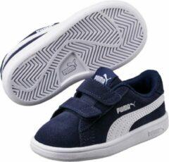 Witte PUMA Smash v2 SD V Inf Kinderen Sneakers - Peacoat-Puma White - Maat 25