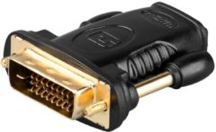 Goobay HDMI - DVI-D HDMI DVI-D Zwart kabeladapter/verloopstukje