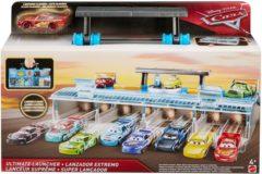 Blauwe Disney Cars 3 lanceerbaan Ultimate Launcher blauw 31 cm