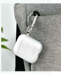COTEetCi Silicone Case Cover Hoesje geschikt voor Apple AirPods 2 / 1 - Transparant