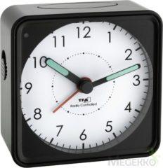 TFA 60.1510.01 Wekker Zendergestuurd Zwart Fluorescerende Wijzers