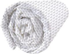 Grijze Matt & rose envol graphique - hoeslaken - tweepersoons - 140 x 200 cm - wit, grijs