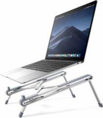 Grijze Laptop Standaard Verstelbare Computer Houder Notebook Standaard Opvouwbaar Draagbare Lichtgewicht Compatibel Chromebook Compatibel met MacBook Pro 15, Mac Air 13, iPad Air 4, Dell enz. Aluminium