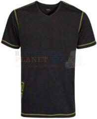 RSL T-shirt Badminton Tennis Zwart/Lime maat XXL
