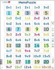 Larsen Puzzel Maxi Memopuzzel - Optellen met cijfers van 0-20 - 40 stukjes