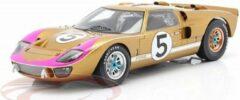 Ford MK II #5, 3rd 24Hrs Le Mans 1966 Ronnie Bucknum Dick Hutcherson Goud / Wit 1-18 Spark