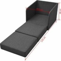 Merkloos / Sans marque Slaapstoel Donkergrijs uitklapbaar Stof / Loungestoel / Lounge stoel / Relax stoel / Chill stoel / Lounge Bankje / Lounge Fauteil / Uitklapbare Slaap Stoel