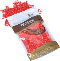 MEGA BEAUTY SHOP® Wax beans 100gr. Strawberry- Hard wax beans- Hard wax beans- Ontharingswax- Harskorrels- Harde hars- Ontharingshars- Harsen- Waxen- Hars parels