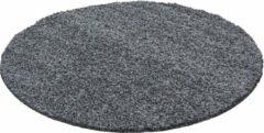 Decor24-AY Hoogpolig vloerkleed Dream - grijs - rond - 120x120 cm