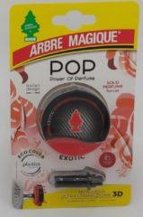 Rode Arbre Magique POP Exotic autoparfum - Auto luchtverfrisser Exotic - Autoparfum Exotic - Lekker luchtje in de auto - Exotic Geurtje - Compact geurtje -Parfum - Airco - Auto - Fris - Verfrissend - Auto Geurverfrisser - Auto geurtje