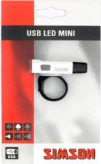 Simson USB Led Mini - Fietslamp - Batterij/USB - LED - Wit