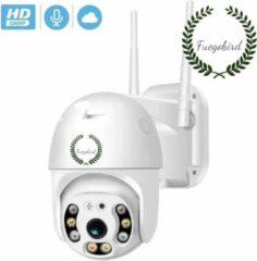 Witte Fuegobird Wifi Smart Waterdichtheid IP66 Draadloze Dome IP camera - buiten - draai- en kantelbaar - FULL HD 1080P