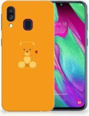 Oranje Samsung A40 TPU Siliconen Hoesje Baby Beer
