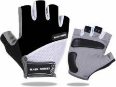 Witte NoraSol Fietshandschoen Heren - Fietshandschoen Dames - Fietshandschoen Unisex - met grip zwart L, MTB, ATB, Race, Handschoen