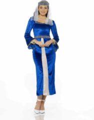 Donkerblauwe Partychimp Karnival Costumes Verkleedkleding Maid Marion kostuum voor vrouwen Blauw - XL