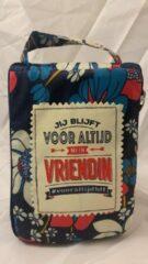 Rode History&heraldy Shopper bag dames met leuke tekst JIJ BLIJFT VOOR ALTIJD MIJN VRIENDIN #VOORALTIJDBFF winkeltasje Wordt geleverd in cellofaan met linten