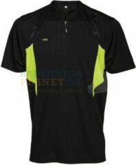 Gele RSL T-shirt Badminton Tennis Zwart/Lime maat S