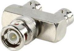 Grijze Valueline BNC-009 BNC BNC Metallic kabeladapter/verloopstukje