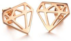 Roze Cilla Jewels Rosegoud vergulde oorknoppen Diamonds