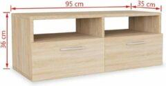 Bruine VidaXL Tv-meubel 95x35x36 cm spaanplaat eikenkleurig